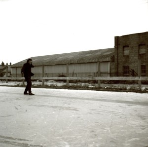 In the big freeze of 1963, David Alderton and Jennifer Brown were able to skate on this static water tank. It was at Cooper Tabor's prizewinning seed warehouse in Station Road.