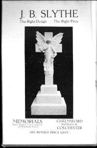 Advert in Kelly's directory for 1933