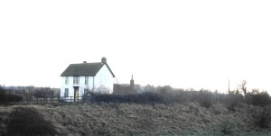 Dengie farmhouse, south of Witham. Near here was Dengie Lane, where the