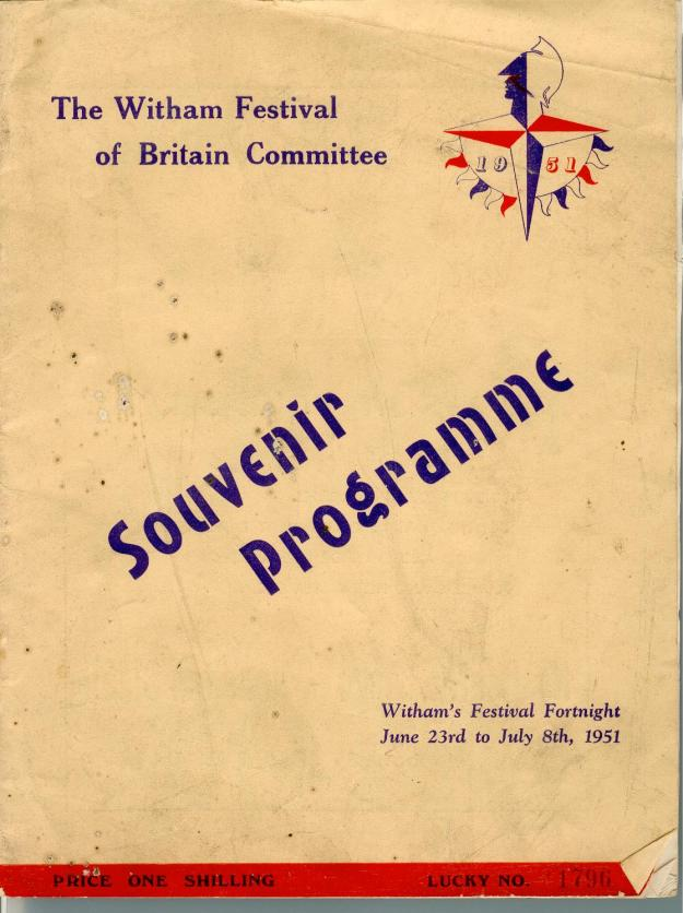 The front cover of Witham's Festival of Britain programme