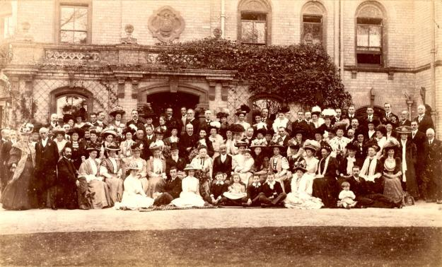 The celebrations at Witham Lodge for Admiral and Lady Luard's Golden Wedding in 1908