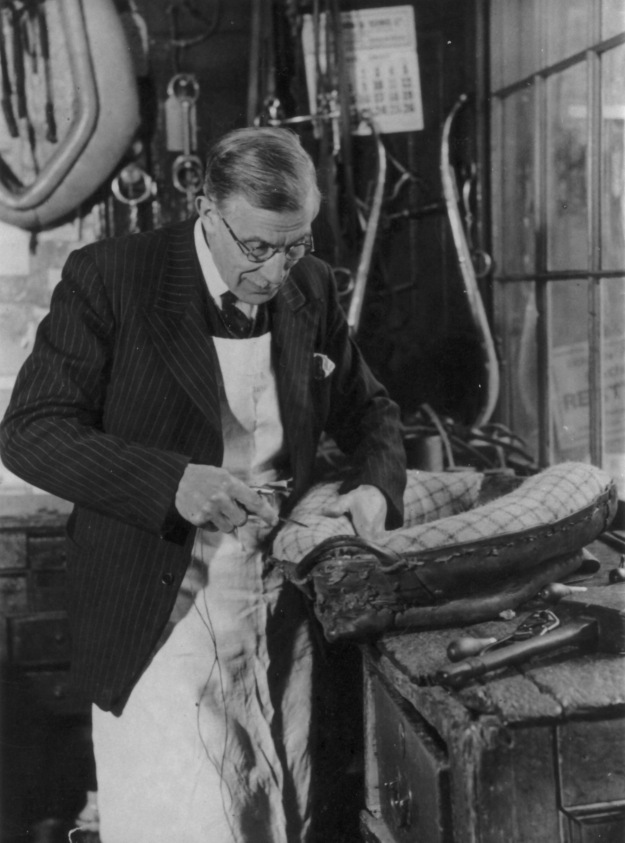 Basil at work, photographed by John Tarlton. He never usually wore his jacket for work, but his wife insisted that he should do so for the photo