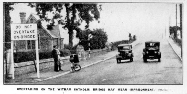 One of my favourite photos. Traffic problems were among the main reasons for needing the new police station which opened in 1937. This photo was taken nearby, a few months later