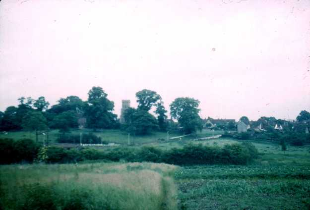 Taken by the late John Scott-Mason in about 1960; thanks to his family for allowing me to use his photos. He stood amongst the allotments to take the photo, looking towards the Church and Chipping Hill