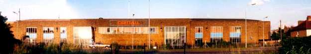 The Braintree Road frontage of Crittall's factory. Taken in 1991 when the factory was empty and awaiting demolition