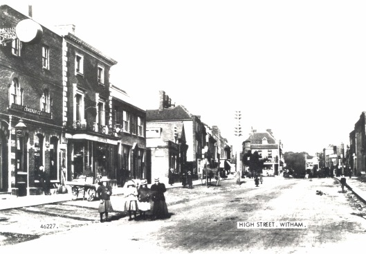The wide part of Newland Street, c.1900, discussed below.