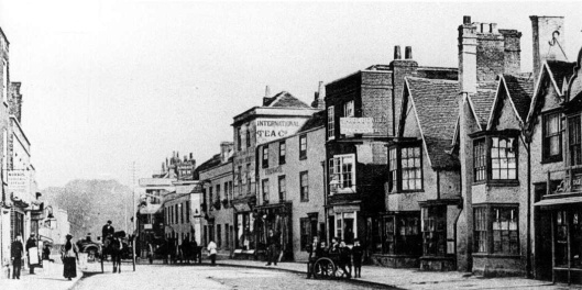 The narrow part of Newland Street, south side, as discussed below