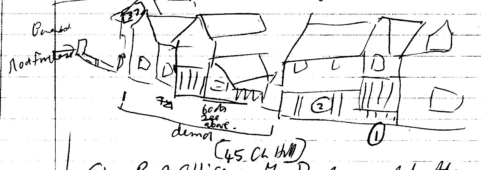 tape 007, pic 3, chipping hill looking west, drawing