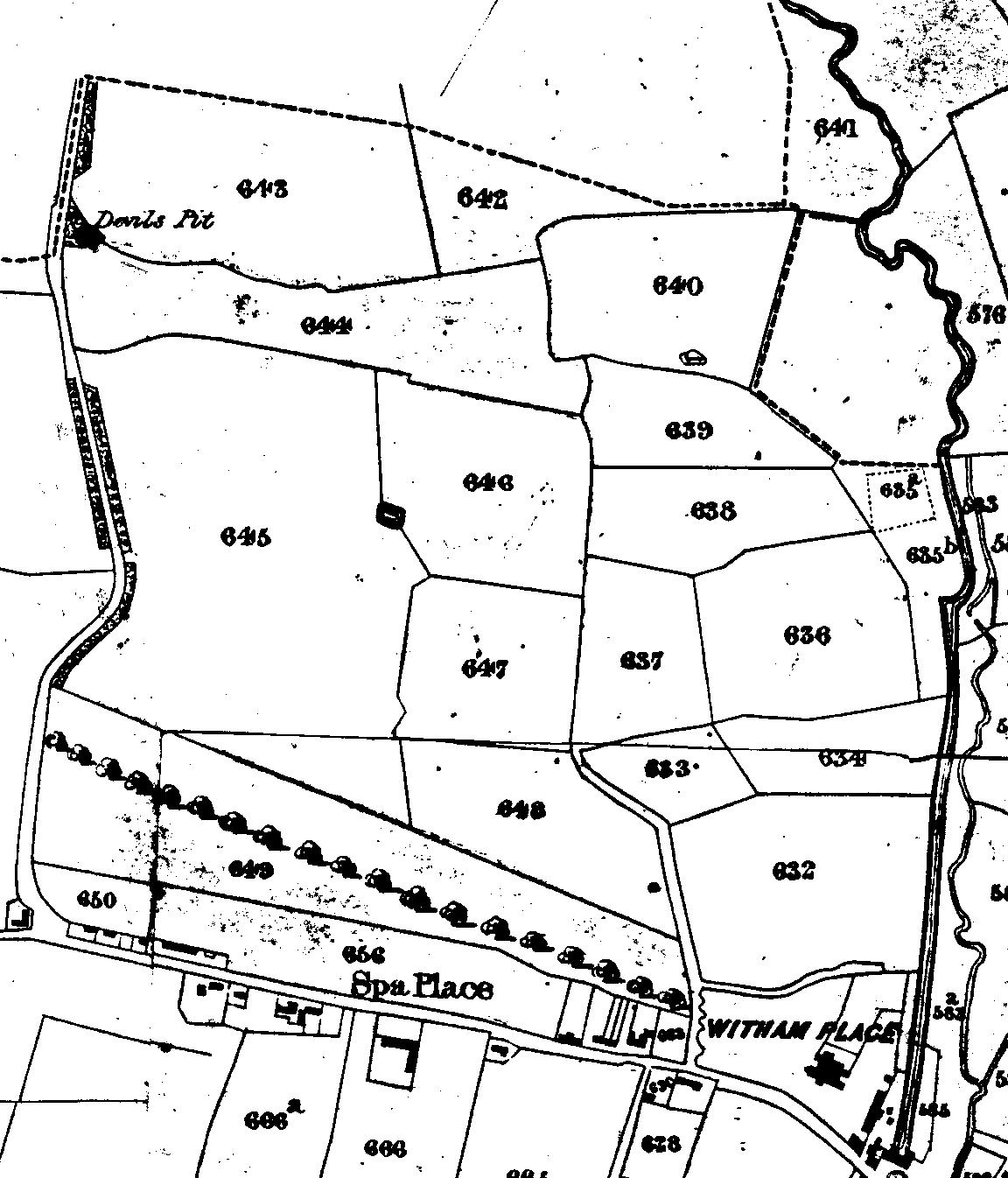 tape 007, pic 5, map of lane to moors