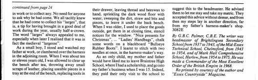 Mr Palmer, article about his father, part 2