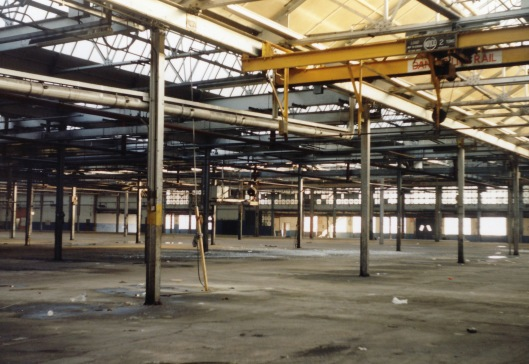 A view inside the main workshop when it was empty