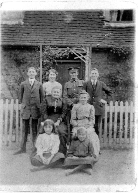 Some of the Sneezum family in front of their house, at the entrance to the Park - Park Cottage in Kings Chase.