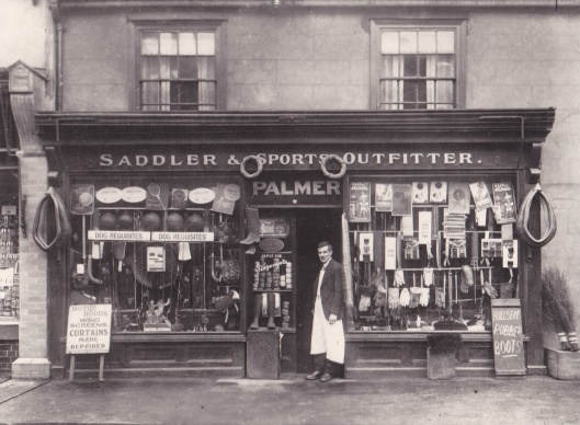 The shop of Basil Palmer, Gerald's father, at 45 Newland Street, in the 1920s.